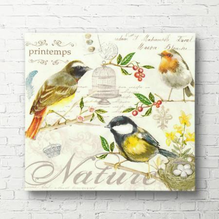 Tablouri Canvas, Păsările galbene pe ramuri