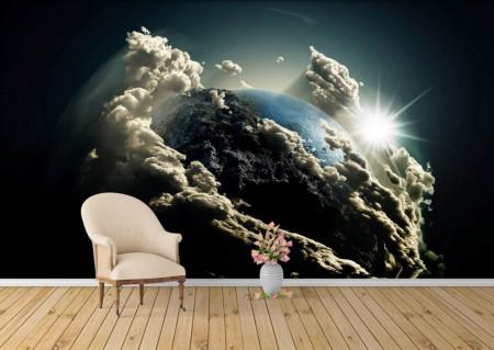 Fototapet Astronomie, Planeta înghțită de nori