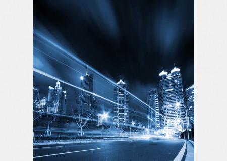 Fototapet Orase, Orașul în culori albastre