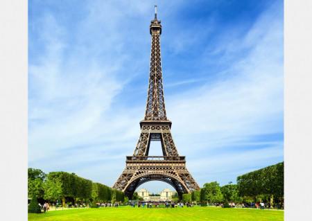Fototapet Orase, Turnul Eiffel înconjurat de frumusețile naturii