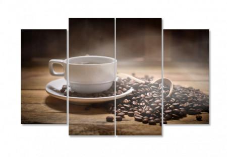 Multicanvas, Boabe de cafea pe un fundal cafeniu