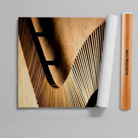 Stickerele decorative, pentru uși, Podul din lemn, 1 foaie de 80 x 200 cm