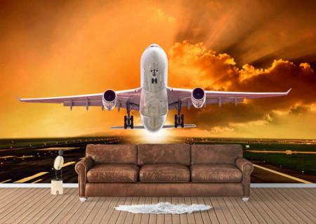 Fototapet, Avionul care decolează