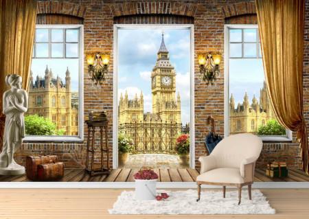 Fototapet Fresco, Fototapete cu o vedere la Big Ben