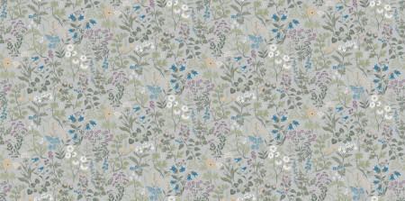 Fototapete, Motive florale delicate în albastru.