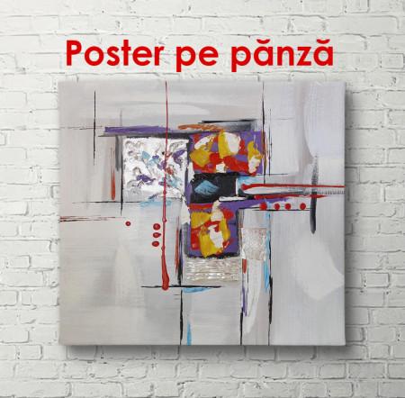 Poster, Accentul galben pe un pătrat gri