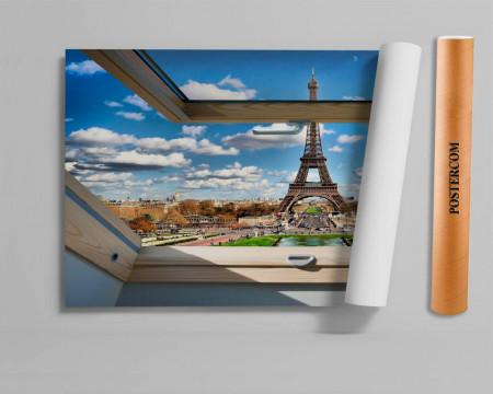 Stickere pentru pereți, Fereastra cu vedere spre Turnul Eiffel