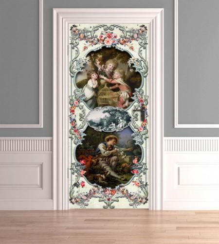 Stickerele decorative, pentru uși, În lumea copiilor , 1 foaie de 80 x 200 cm