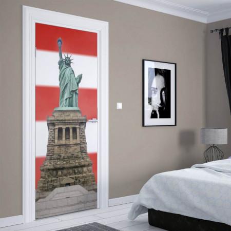 Stickerele decorative, pentru uși, Statuia Libertății, 1 foaie de 80 x 200 cm