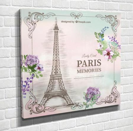 Tablouri Canvas, Turnul Eiffel pe un fond blând