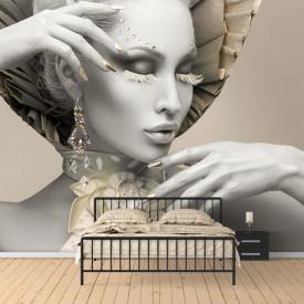 Fototapet 3D, Doamnă din porțelan