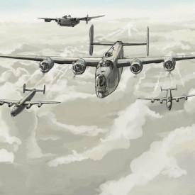 Fototapet, Avioane în zbor