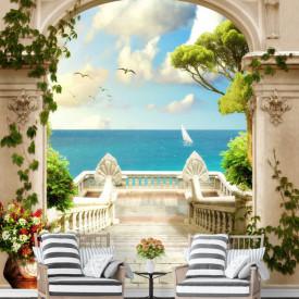 Fototapet Fresco, Pescărușii peste mare