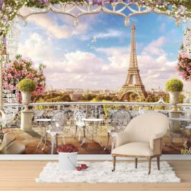 Fototapet Fresco, Seară romantică în Paris