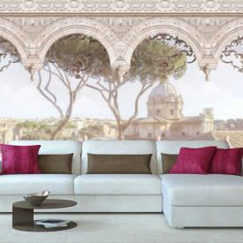 Fototapet Fresco, Vederea de la balconul orașului
