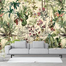 Fototapet, Plante tropicale, imprimeu fără sudură