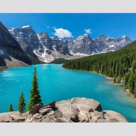 Fototapet, Un peisaj frumos montan