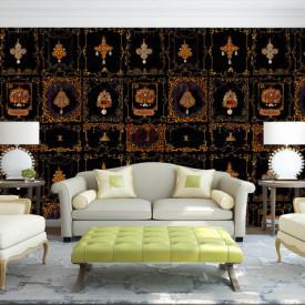 Fototapet, Un perete cu decorațiuni