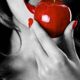 Poster, Alb-negru cu roșu