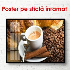 Poster, Cafea delicioasă cu boabe de cafea