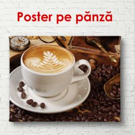 Poster, Cana albă cu cafea