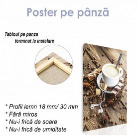 Poster, Căști și o cafea