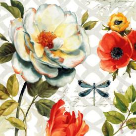 Poster, Compoziția florilor colorate