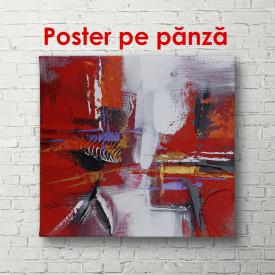 Poster, Fantezie cu flori roșii
