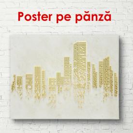 Poster, Orașul abstract în tonuri aurii