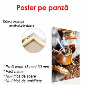 Poster, Pahar cu cafea și boabe de cafea