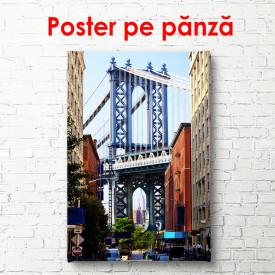 Poster, Podul Brooklyn pe fundalul orașului