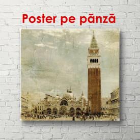 Poster, Turnul retro din orașul vechi