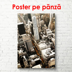 Poster, Vedere de sus a zgârie-norilor