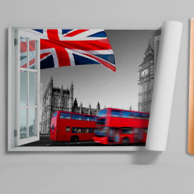 Stickere pentru pereți, Fereastra cu vedere spre Anglia