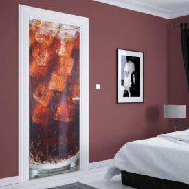 Stickerele decorative, pentru uși, CocaCola cu gheață , 1 foaie de 80 x 200 cm