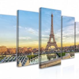 Tablou modular, Apus de vară la Turnul Eiffel