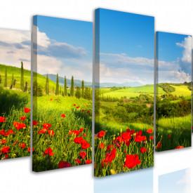 Tablou modular, Câmp cu flori de vară