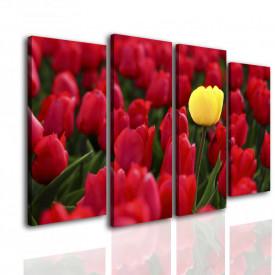 Tablou modular, Lalele galbene și roșii