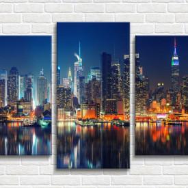 Tablou modular, Vedere spre Manhattan noaptea
