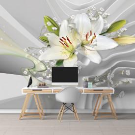 Fototapet 3D, Buchet de crini albi