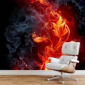 Fototapet 3D, Floare de foc