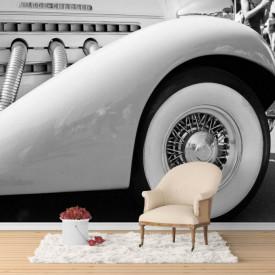 Fototapet, Automobilul alb-negru