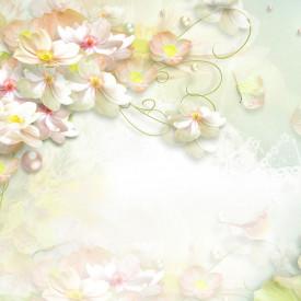 Fototapet, Buchet de flori de dimineață