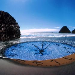 Fototapet, Ceasul în ocean