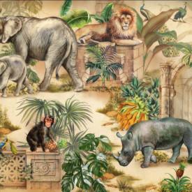 Fototapet, Desen cu animale