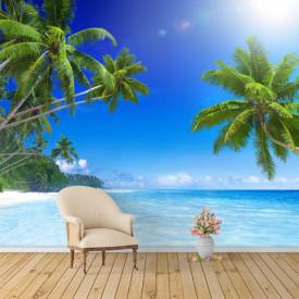 Fototapet, Dimineața frumoasă pe plajă