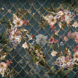 Fototapet, Flori glamuroase de culoare roz pe fundal închis