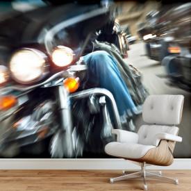 Fototapet, Motocicletă în mișcare lentă