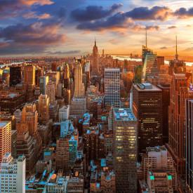 Fototapet Orase, Orașul Frumos New York la apusul