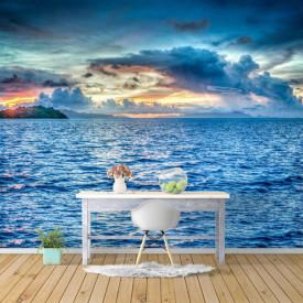 Fototapete, Apus de soare și un peisaj maritim